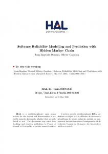 Software Reliability Modelling and Prediction with