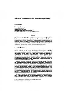 Software Visualization for Reverse Engineering - Springer Link