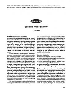 Soil and Water Salinity - Semantic Scholar