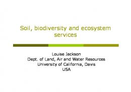 Soil, biodiversity and ecosystem services - Food and Agriculture ...