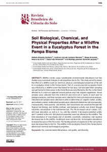 Soil Biological, Chemical, and Physical Properties After a ... - SciELO
