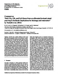 Soil CO2, CH4 and N2O fluxes from an afforested ... - Biogeosciences