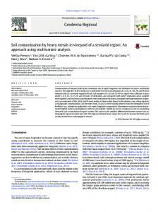 Soil contamination by heavy metals in vineyard of a ...