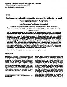 Soil electerokinetic remediation and its effects on ... - Academic Journals