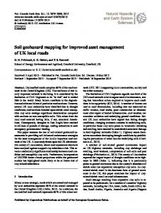 Soil geohazard mapping for improved asset management of UK local ...