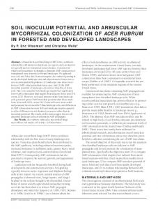 soil inoculum potential and arbuscular mycorrhizal colonization of acer ...