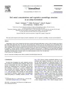 Soil metal concentrations and vegetative assemblage structure in an ...