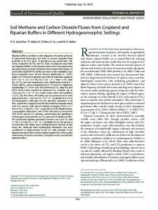 Soil Methane and Carbon Dioxide Fluxes from Cropland and Riparian ...