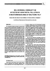 soil microbial community as affected by heavy metal