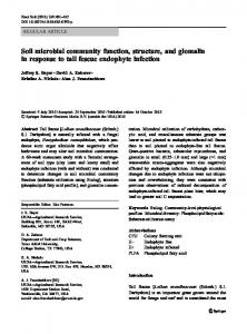 Soil microbial community function, structure, and ... - PubAg - USDA