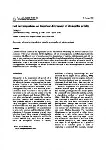 Soil microorganisms: An important determinant of ...