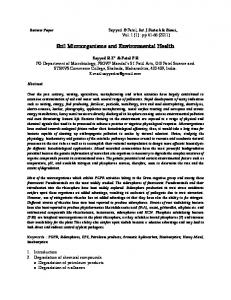 Soil Microorganisms and Environmental Health