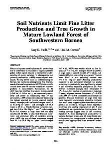 Soil Nutrients Limit Fine Litter Production and Tree ... - Springer Link