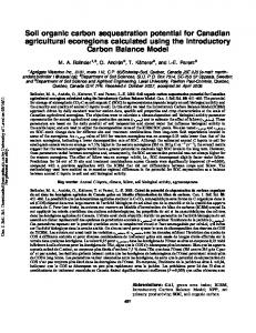Soil organic carbon sequestration potential for ...