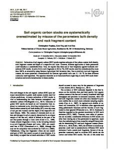 Soil organic carbon stocks are systematically overestimated by misuse ...