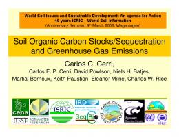 Soil organic carbon stocks/sequestratiion and ...