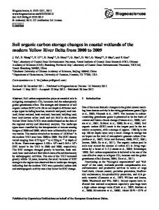 Soil organic carbon storage changes in coastal ... - Biogeosciences