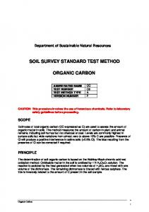 Soil Organic Carbon Test
