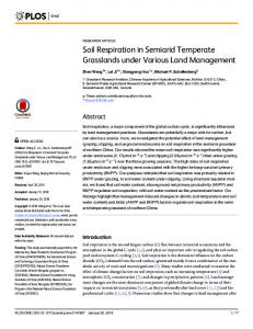 Soil Respiration in Semiarid Temperate ... - Semantic Scholar