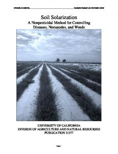 Soil Solarization - Vegetable Research and Information Center