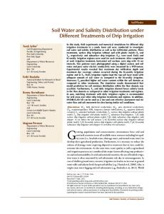 Soil Water and Salinity Distribution under Different