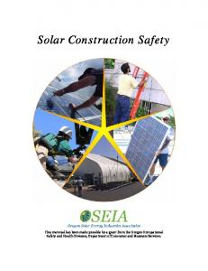 Solar Construction Safety Manual