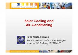 Solar Cooling and Air-Conditioning