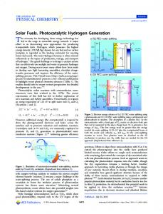 Solar Fuels. Photocatalytic Hydrogen Generation - ACS Publications