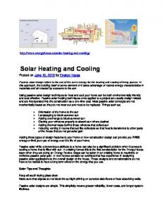 Solar Heating and Cooling (pdf) - Energy House