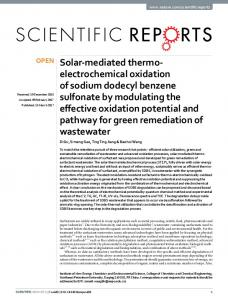 Solar-mediated thermo-electrochemical oxidation of ...