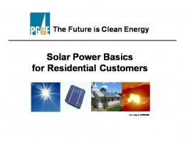 Solar Power Basics - Pacific Gas and Electric Company