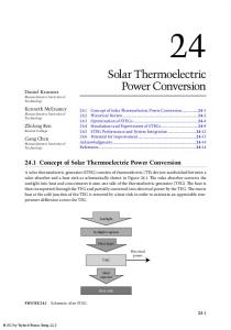 Solar Thermoelectric Power Conversion