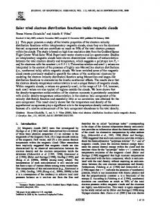 Solar wind electron distribution functions inside ... - Wiley Online Library