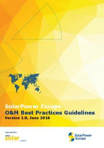 SolarPower Europe: O&M Best Practices Guidelines (PDF Download ...