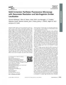 Solid Immersion Facilitates Fluorescence ... - Wiley Online Library