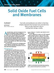 Solid Oxide Fuel Cells and Membranes - College of Engineering ...