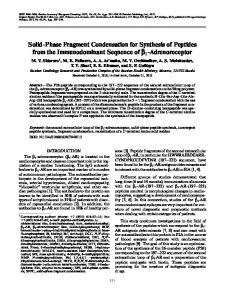 Solid-Phase Fragment Condensation for Synthesis of ... - Springer Link
