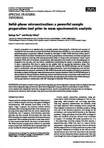 Solid-phase microextraction: a powerful sample preparation tool prior ...