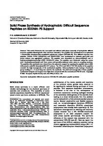 Solid phase synthesis of hydrophobic difficult ... - Wiley Online Library