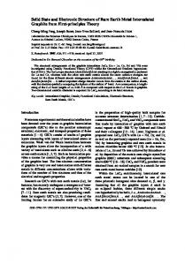 Solid State and Electronic Structure of Rare Earth Metal Intercalated ...
