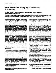 Solid-State DNA Sizing by Atomic Force Microscopy - American ...