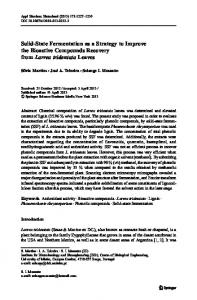 Solid-State Fermentation as a Strategy to Improve ... - Semantic Scholar