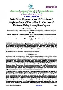 Solid State Fermentation of Overheated Soybean Meal - IJIRSET