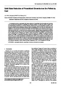 Solid State Reduction of Preoxidized Chromite-iron Ore ... - J-Stage