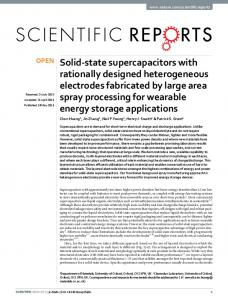 Solid-state supercapacitors with rationally ... - Semantic Scholar