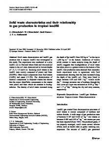 Solid waste characteristics and their relationship to gas production in ...