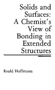 Solids and Surfaces: A Chemist's View of Bonding in ...
