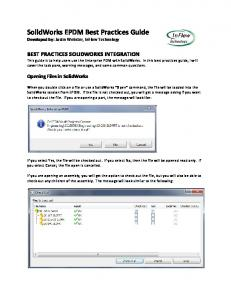 SolidWorks EPDM Best Practices Guide - InFlow Technology