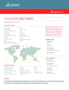 SOLIDWORKS FACT SHEET