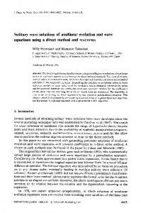 Solitary wave solutions of nonlinear evolution and